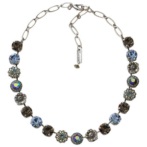 "Mariana Silver Plated Large Flower Shapes Swarovski Crystal Necklace, 18"" Martini 3084 215-3"