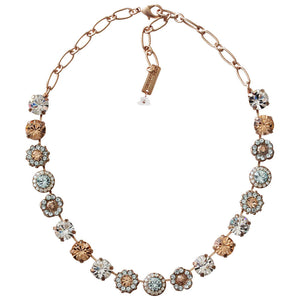 "Mariana Rose Gold Plated Large Flower Shapes Swarovski Crystal 18"" Necklace, Moon Dance 3084 MOL361mr"