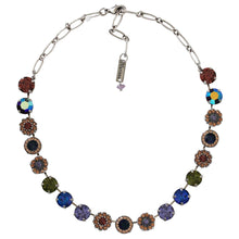 "Mariana ""Penelope"" Silver Plated Large Flower Shapes Mosaic Swarovski Crystal Necklace, 3084 1089"