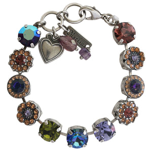 "Mariana ""Penelope"" Silver Plated Large Flower Shapes Swarovski Crystal Bracelet, 7"" 4084 1089"