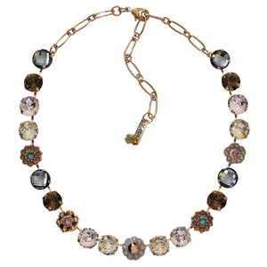 "Mariana ""Rhapsode"" Rose Gold Plated Large Daisy Shapes Swarovski Crystal Necklace, 18"" 3174 1092rg"