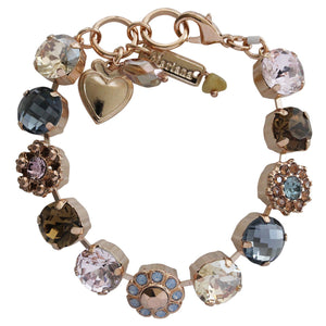 "Mariana ""Rhapsode"" Rose Gold Plated Large Daisy Shapes Swarovski Crystal Bracelet, 7"" 4174 1092rg"