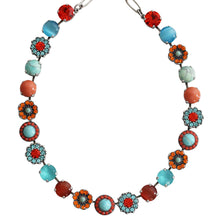 "Mariana ""Serengeti"" Silver Plated Large Flower Shapes Swarovski Crystal Necklace, 3045/2 M1079"