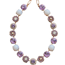 "Mariana Rose Gold Plated Large Flower Shapes Swarovski Crystal Necklace, 18"" Twilight 3084R M83371mr"