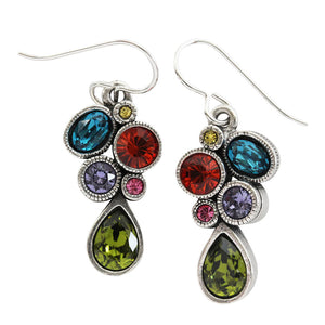 "Patricia Locke ""Leading Lady"" Sterling Silver Plated Swarovski Earrings, Fling EF0989S"