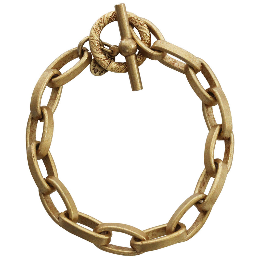 Catherine Popesco 14k Gold Plated Oval Link Chain Bracelet, 7
