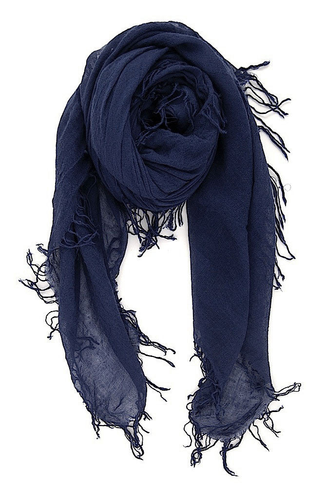 Chan Luu Cashmere and Silk Scarf Wrap - Medieval Blue BRH-SC-140