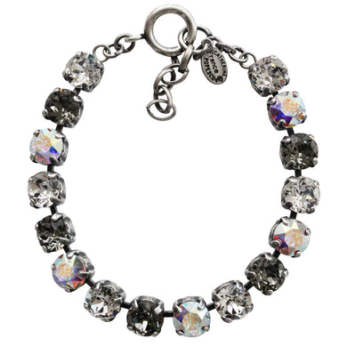 Catherine Popesco Sterling Silver Plated Cup Chain Crystals Bracelet, 7.5