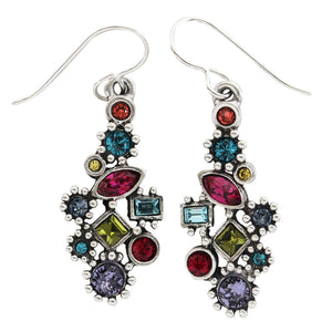 "Patricia Locke ""Natalya"" Sterling Silver Plated Swarovski Earrings, Celebration EF1053S"