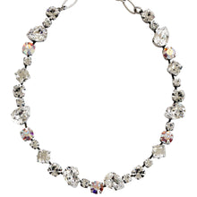 "Mariana Silver Plated Organic Shapes Swarovski Crystal Necklace, 17.5"" On A Clear Day 3505/1 001"