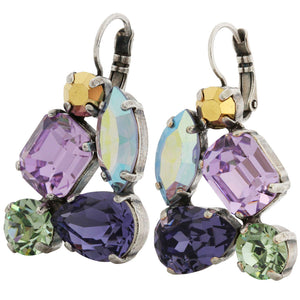 Mariana Silver Plated Shapes Statement Swarovski Earrings, Iris 1402 1327