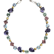 "Mariana Silver Plated Organic Shapes Swarovski Crystal Necklace, 17.5"" Iris 3505/1 1327"