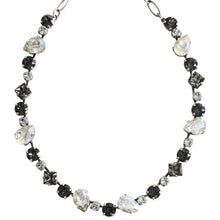 "Mariana ""Zulu"" Silver Plated Organic Shapes Swarovski Crystal Necklace, 17"" 3505/1 1080"