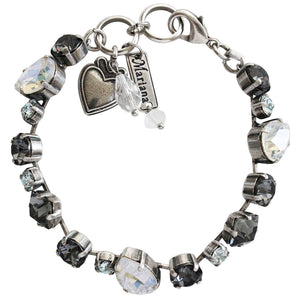 "Mariana ""Zulu"" Silver Plated Mixed Shapes Swarovski Crystal Bracelet, 7"" 4505 1080"