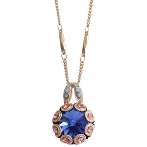 "Mariana ""Kiss from a Rose"" Rose Gold Plated Rivoli Cut Crystal Surround Swarovski Pendant Necklace, 19.5"" 5070 1068mr"