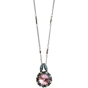 "Mariana ""Summer Fun"" Silver Plated Rivoli Cut Crystal Surround Swarovski Pendant Necklace, 5070 3711"