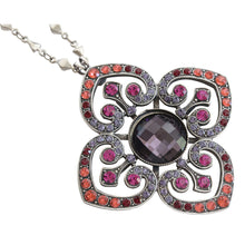 "Mariana ""Xenia"" Silver Plated Ornate Clover Pendant Statement Swarovski Crystal Necklace, 28"" 5050 1091"