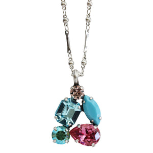 "Mariana ""Summer Fun"" Silver Plated Cluster Swarovski Crystal Pendant Necklace, 5402/2 3711"