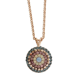 "Mariana ""Rhapsode"" Rose Gold Plated Round Pendant Crystal Necklace, 20"" 5193/1 1092mr"
