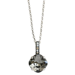 "Mariana ""Zulu"" Silver Plated Cushion Drop Bail Swarovski Crystal Pendant Necklace, 5326/1 1080"