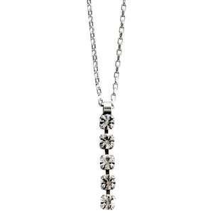 "Mariana Silver Plated Dangle Pendant Swarovski Crystal Necklace, 15"" + 3"" Extender ""On A Clear Day"" 5425 001001"