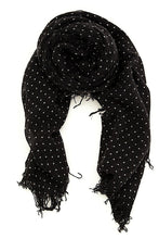 Chan Luu Cashmere and Silk Scarf Wrap - Polka Dot Black BRH-SC-301