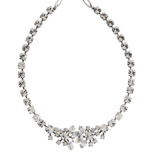 "Mariana ""On A Clear Day"" Silver Plated Rhinestone Cluster Statement Swarovski Crystal Necklace, 3326/2 001001"