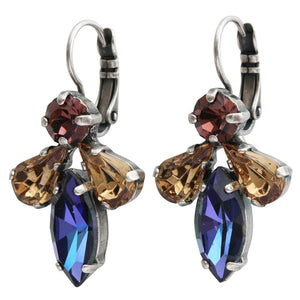 "Mariana ""Penelope"" Silver Plated Cluster Marquis Rhinestone Statement Swarovski Crystal Earrings, 1030/4 1089"