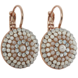 Mariana Rose Gold Plated Statement Round Swarovski Crystal Earrings, Forever 1193 5087mr