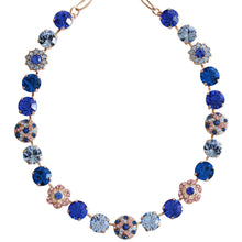 "Mariana ""Kiss from a Rose"" Rose Gold Plated Large Round Patterned Floral Swarovski Crystal Necklace, 19"" 3259/1 1068mr"