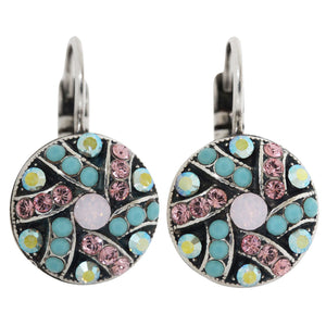 "Mariana ""Summer Fun"" Silver Plated Round Patterned Swarovski Crystal Earrings, 1059/1 3711"
