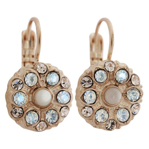 "Mariana ""Kalahari"" Rose Gold Plated Small Flower Swarovski Crystal Earrings, 1401 1078mr"