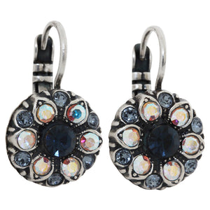 Mariana Mood Indigo Silver Plated Small Flower Swarovski Earrings, 1401 1069