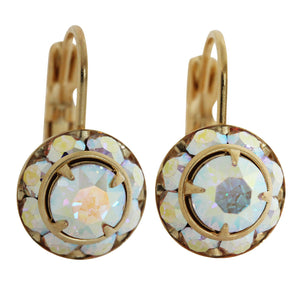 Liz Palacios 14k Gold Plated Small Rondelle Swarovski Crystal Earrings, JE-77 Crystal AB