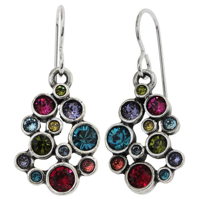 Patricia Locke Something Borrowed Sterling Silver Plated Swarovski Crystal Multi Color Earrings, Celebration EF0930S