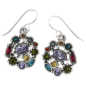 "Patricia Locke ""Sonya"" Sterling Silver Plated Swarovski Earrings, Fling EF1050S"