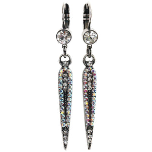 "Mariana ""On A Clear Day"" Silver Plated Spear Swarovski Crystal Earrings, 1304 0011AB"