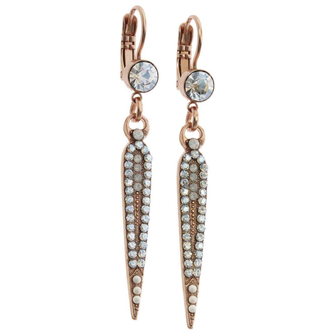 Mariana Rose Gold Plated Spear Swarovski Crystal Earrings, Forever 1304 5087mr
