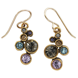 "Patricia Locke ""Splash"" Gold Plated Earrings, Silk EF0685G"