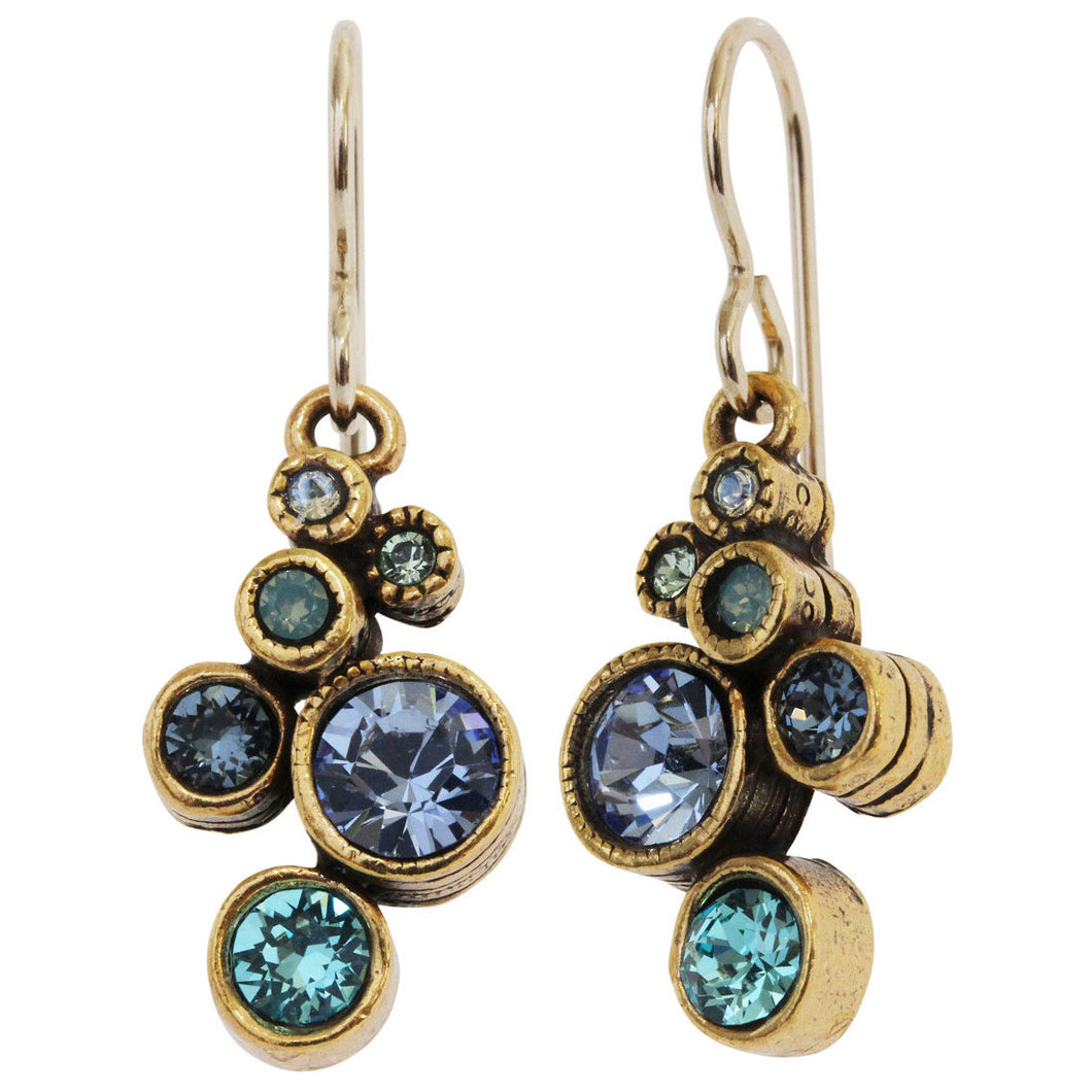 Patricia Locke Splash Gold Plated Earrings, Zephyr EF0685G
