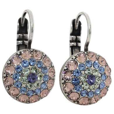 Mariana Silver Plated Moondust Round Swarovski Crystal Earrings, California Dreaming 1141 1067