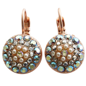 Mariana Rose Gold Plated Moondust Round Swarovski Crystal Earrings, Casablanca 1141 1006rg