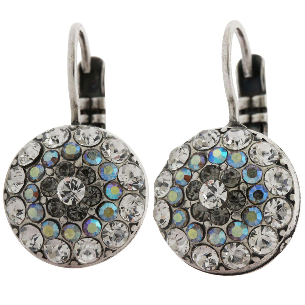 Mariana Silver Plated Moondust Round Swarovski Crystal Earrings, Moonlight 1141 512