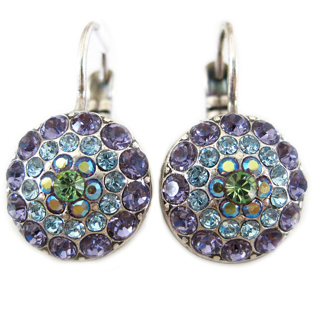 Mariana Silver Plated Moondust Round Swarovski Crystal Earrings, Pastel 1141 88