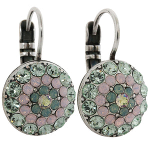 Mariana Silver Plated Moondust Round Swarovski Crystal Earrings, Pina Colada 1141 1063