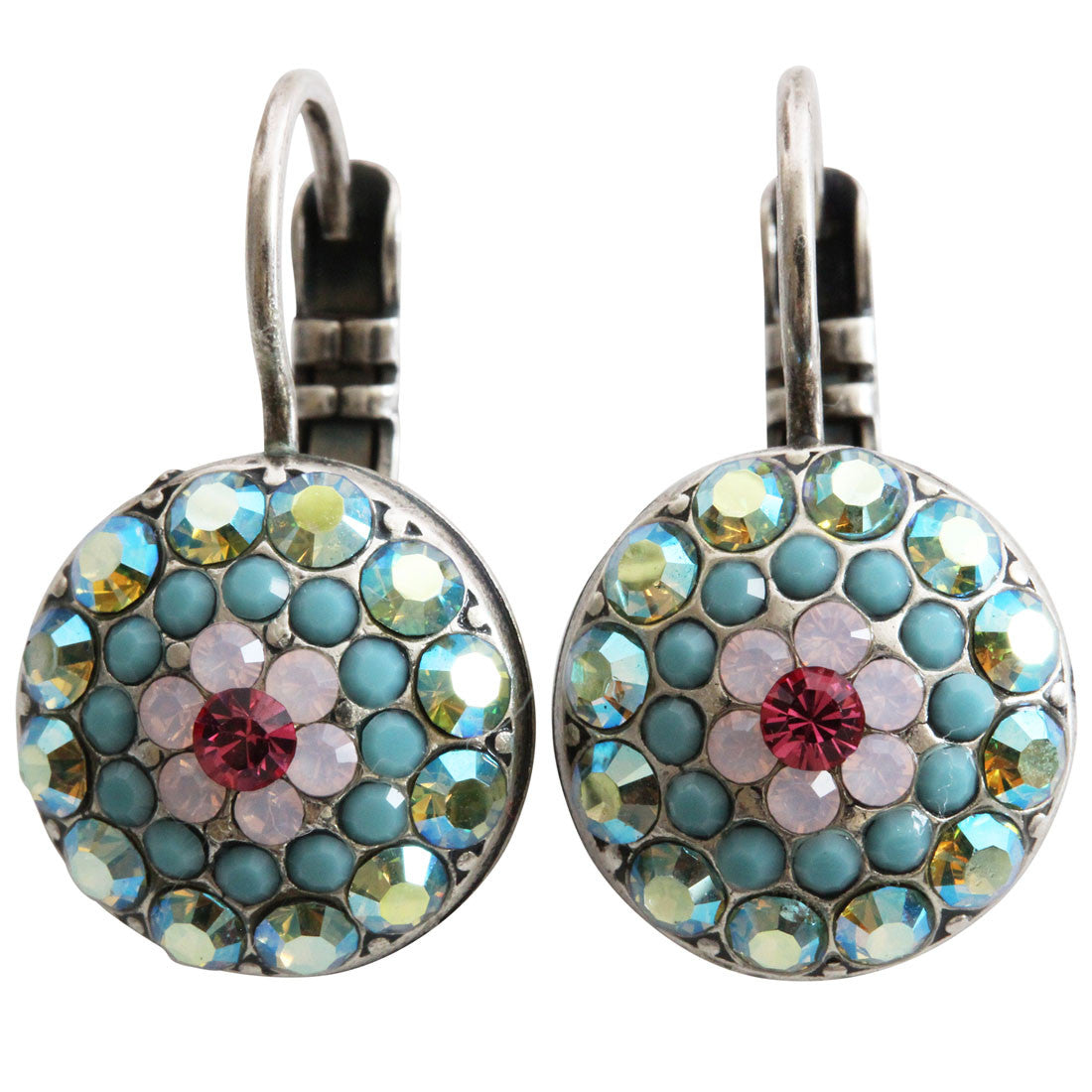 Mariana Silver Plated Moondust Round Swarovski Crystal Earrings, Summer Fun 1141 3711