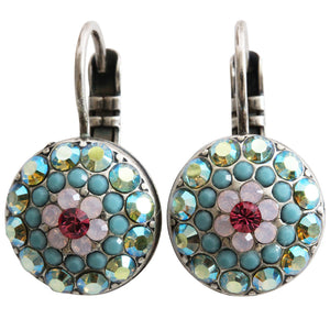"Mariana ""Summer Fun"" Silver Plated Moondust Round Swarovski Crystal Earrings, 1141 3711"