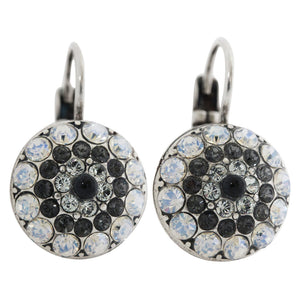 "Mariana ""Zulu"" Silver Plated Moondust Round Swarovski Crystal Earrings, 1141 1080"
