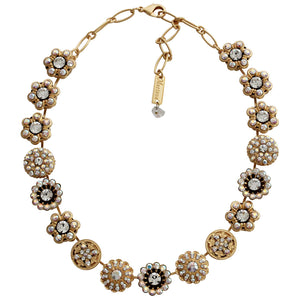 "Mariana ""On A Clear Day"" Gold Plated Statement Flowers Swarovski Crystal Necklace, 3138 001AByg"