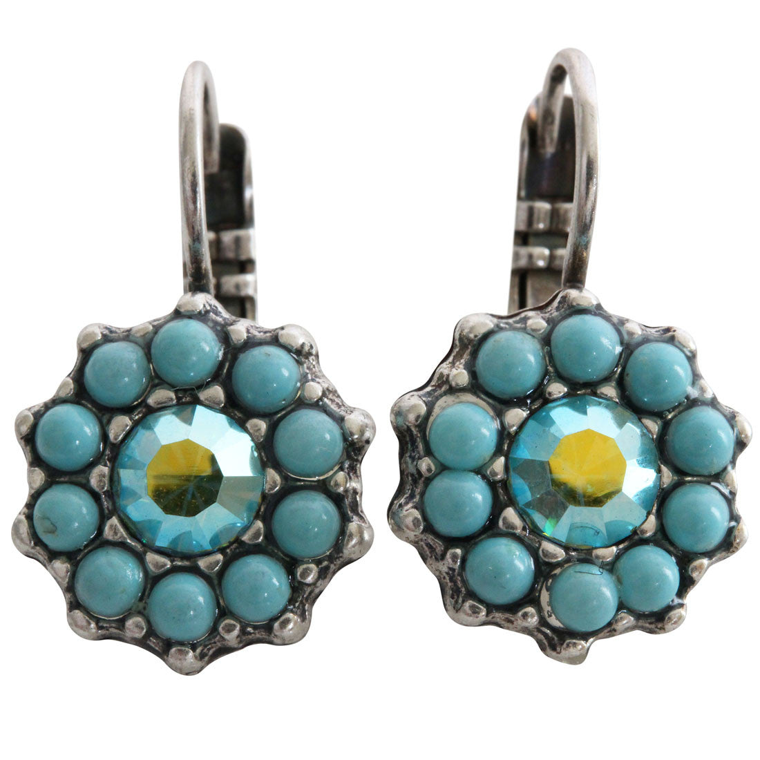 Mariana Silver Plated Daisy Swarovski Crystal Earrings, Summer Fun 1157 3711